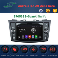 2 din car gps navigation for Suzuki Swift android car dvd player with GPS, DVD , radio, iPod, wifi, 3G
