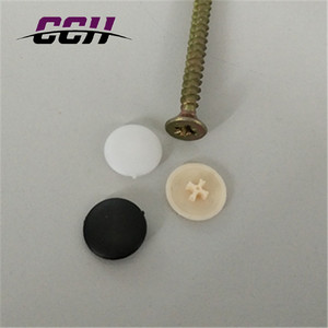 plastic cover cap decorated screw cover
