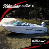 small aluminum runabout motor boat