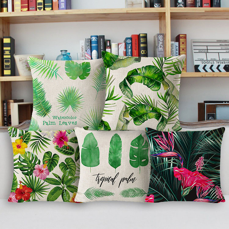 Spring Summer Style Romance Tropical Banana Leaves Green Fern