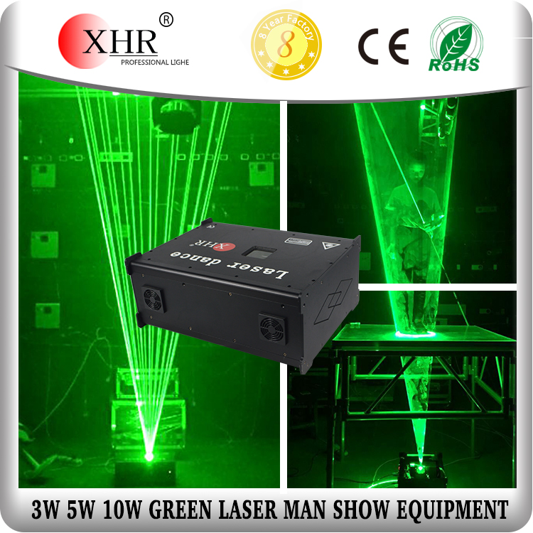 ILDA laser,5W green laser man system,stage dance club laserman show equipment