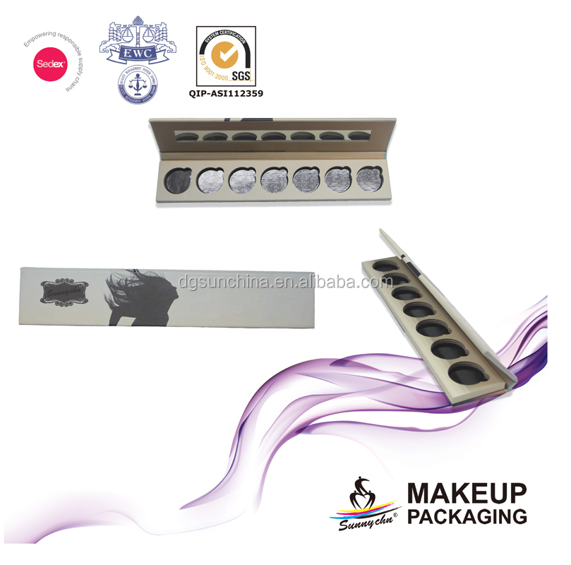 2017 Innovative paper eyeshadow palette box for cosmetic packaging
