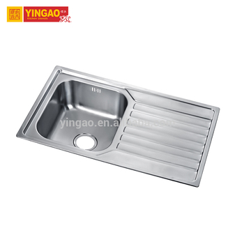 Factory Price Double Handmade Stainless Steel Kitchen sink With Drainboard