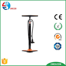 2017 best quality bike pump with pressure gauge, bicycle tire air pump, bicycle floor pumps for sale