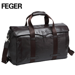 Hot Sale Men Genuine Leather Travel Bag Luggage For Weekend
