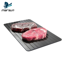 China Supplier Amazon Hot Sale teflon coating nonstick aluminum thawing plate fast defrosting tray for Frozen Food
