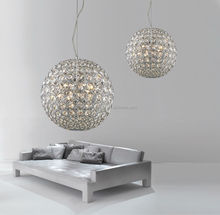 china supplier new product high quality clear crystal led Pendant Lighting