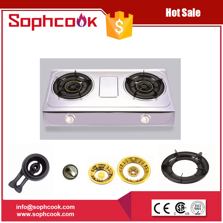 newest hot selling double induction cooker gas stove / gas cooker