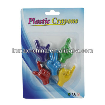 Finger shape cute multi color crayons for children
