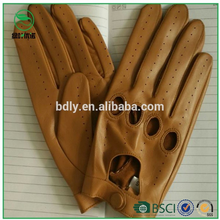 Fashion Genuine leather motorcycle gloves men driving gloves