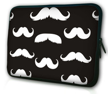 Fashion Cute Spelial Mustache Elegant Laptop Sleeve Bag Case For iPad