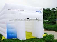 double layers PVC mini inflatable tent for exhibition booth