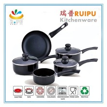 8pcs black High quality german style kitchen king chef magic cookware