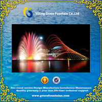 artificial water jet classical water fountain with lights