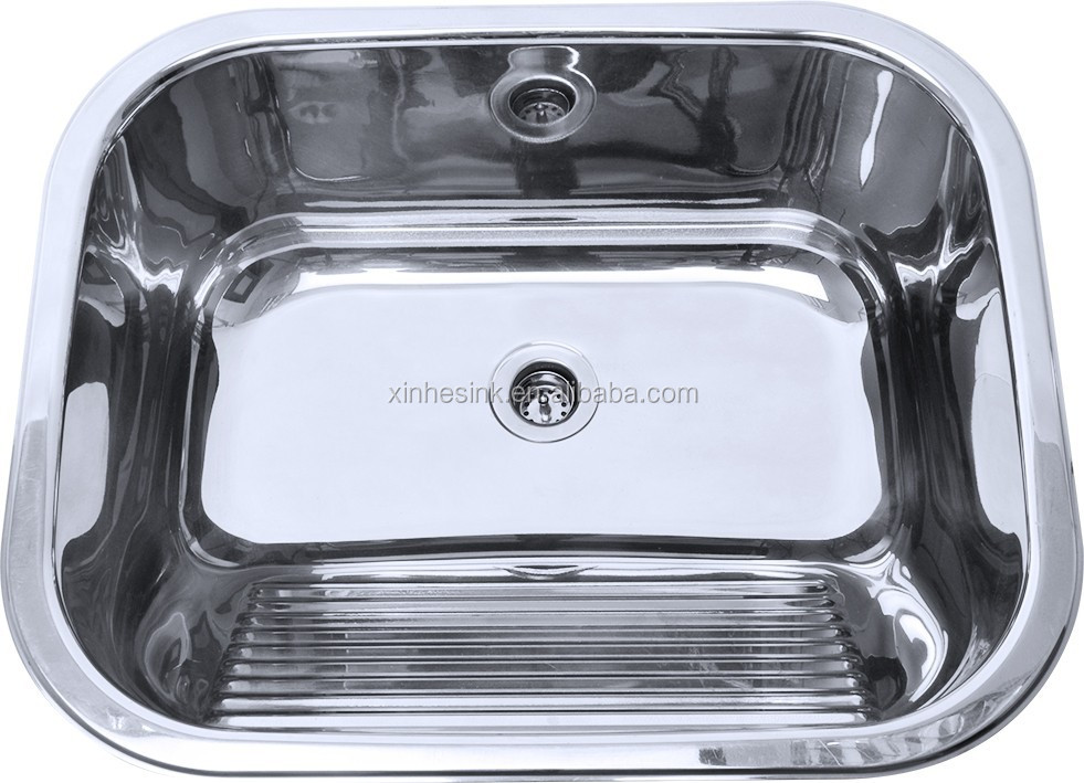 Steel Laundry Sink Laundry Tub With Washboard,Stainless Steel Laundry ...