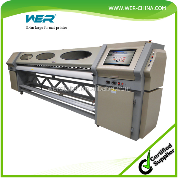 High quality 1440 dpi 10ft/3.2m large format solvent printer WER-S3208