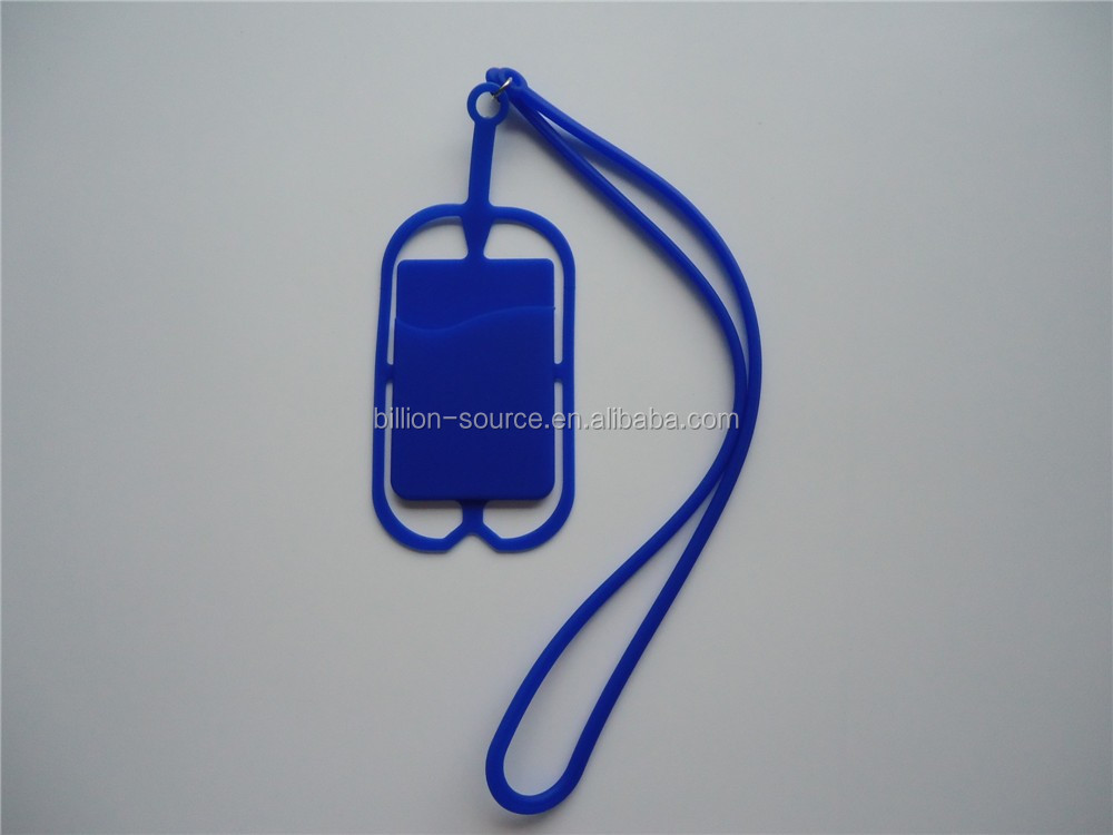 New creative silicone rubber lanyard cell phone case