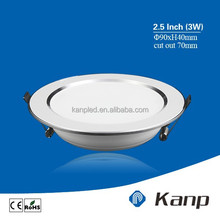 3 W 2.5 Inch China Supplier Round Kitchen Recessed SMD LED Ceiling light