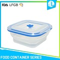 Hard silicone material cheap food storage container