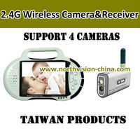 2.4GHZ wireless baby monitor with 2.8 inch lcd monitor, video recording, support tf card