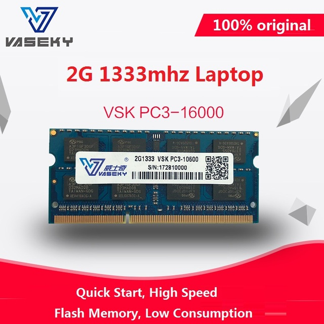 Vaseky China wholesale all motherboard dimm ddr3 laptop 1333MHZ DDR3 2GB ram memory