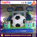 Commercial popular cheap football bouncer inflatable slide for kids