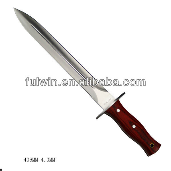 High quality outdoor life long blade hunting knife