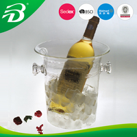 Acrylic ice bucket plastic ice cooler