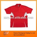 Newest Design Split Joint Promotional Polo Tshirt RED
