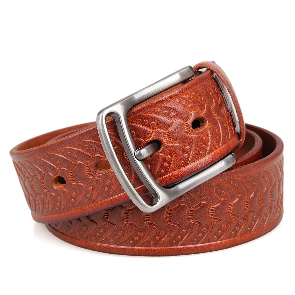 High Quality Genuine Leather Belt With Solid Copper Buckle Fashion Man Belt B015B-<strong>2</strong>