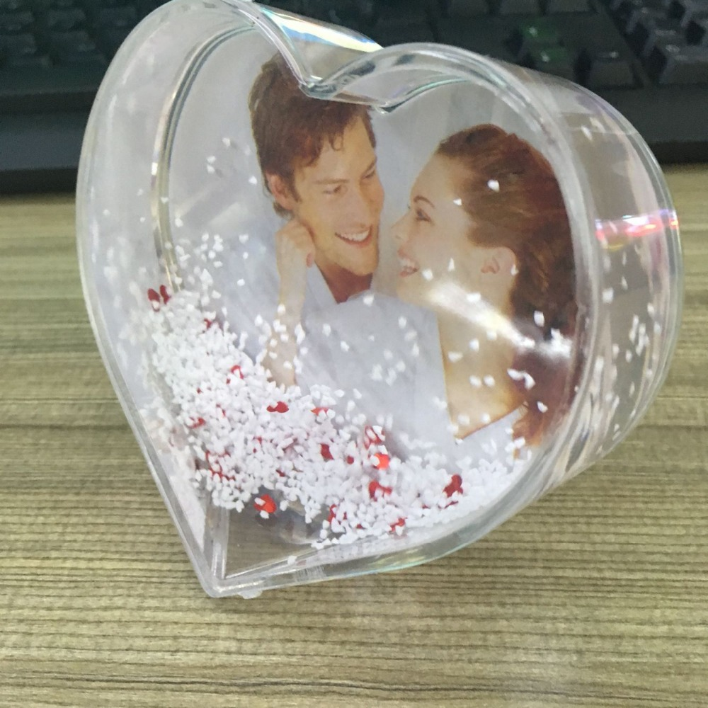 wedding souvenirs gifts funny glitter love photo frame globe