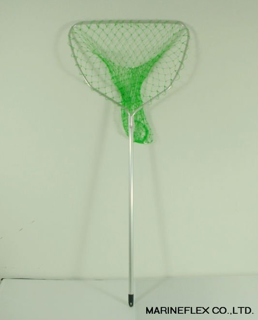 Telescopic folding aluminum fishing landing net