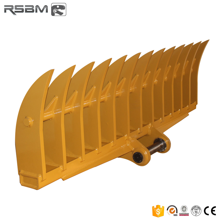 RSBM Hot selling machine grade excavator land clearing rakes