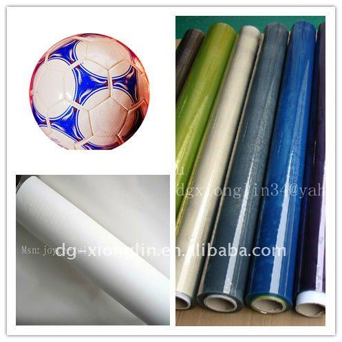Color tpu polyurethane film with EVA and fabric for football and soccerball