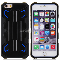 Hard stand robot protective case for Apple iPhone 6 Plus 5.5 inch TPU hybrid cover