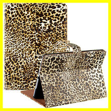 Leopard Print Case for iPad 5 Leather Folio Stand Magnetic Sleep Wake Factory Best Price and Warranty