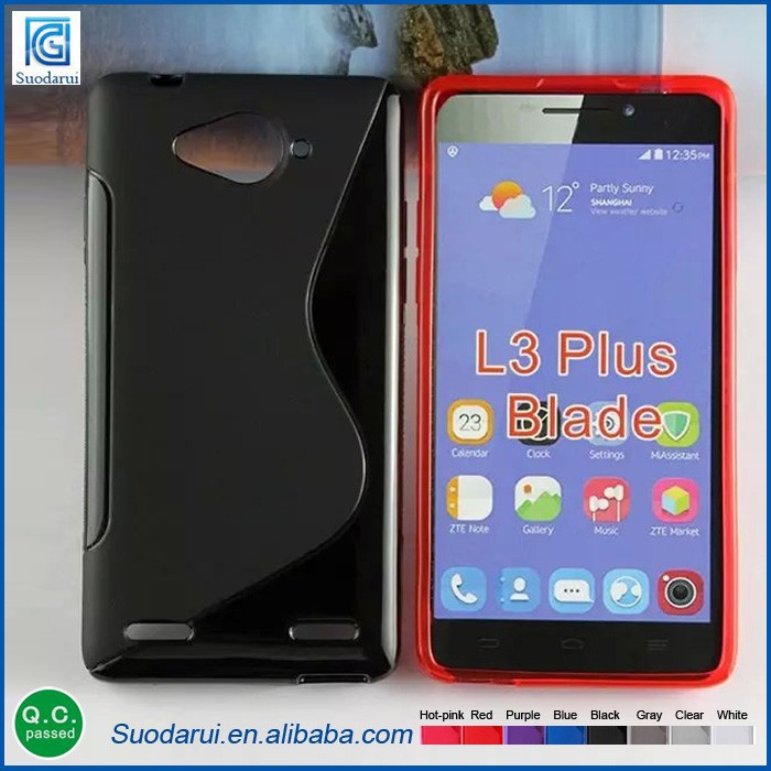 S-Line TPU Gel case For ZTE Blade L3 plus Best price mobile case Mix colors