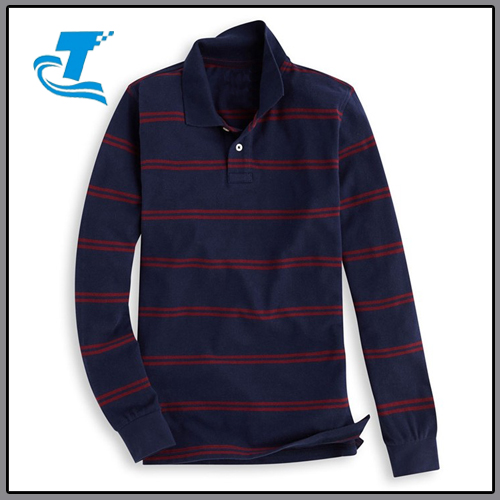 New fashion striped polo men soft cotton mens long sleeve polo shirt brand clothing men polo shirt