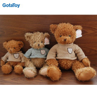 Factory custom teddy bear with knitted sweaters