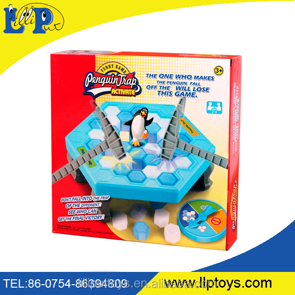 funny ice breaking toys save the penguin family fun game
