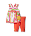 Baby Girls' 2 Piece Playwear Set With Bow On Chest and Applique