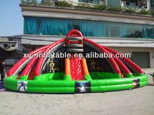 residential inflatable water slides with pool,wahoo inflatable trippo slide