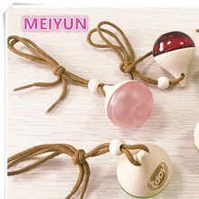 Portable Mini car hanging air freshener perfume diffuser glass bottle with wooden cap