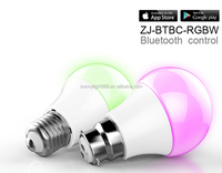7w RGB Bluetooth battery operated led light bulb controlled by phone E27 or B22 Holder SMD5730
