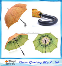 Double layer kiwifruit print digital sublimation print full color print customized golf umbrella