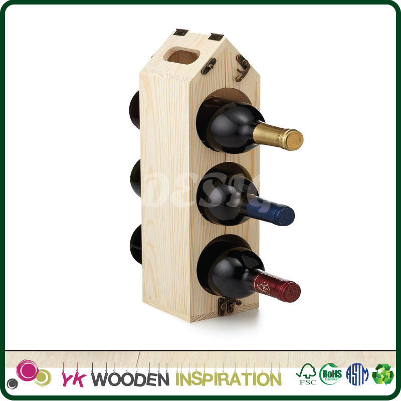 Wooden wine carrier for Advertising