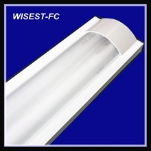 hot sale T8 double tube 2x36w fluorescent light fittings with pc cover