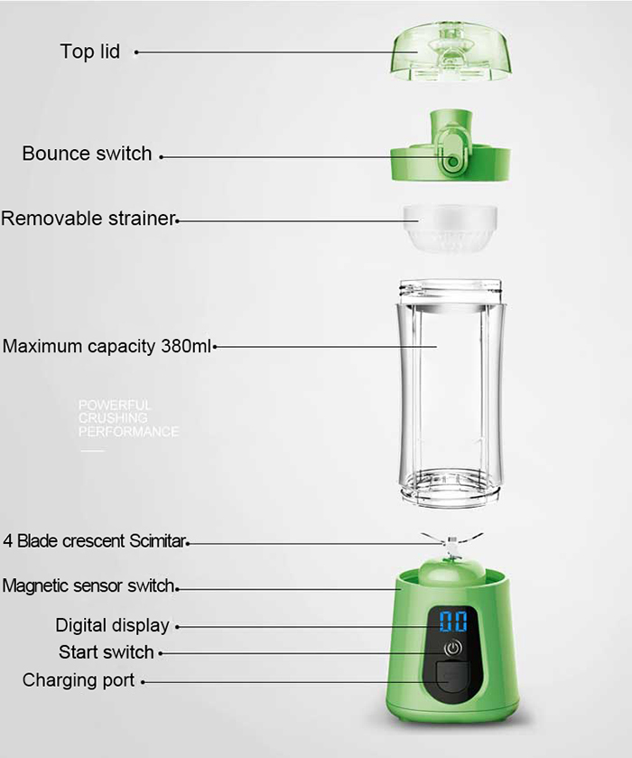 Wholesale custom style orange juicer machine colorful electric portable fruit juicer machine