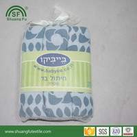 HOT! Baby Muslin Diaper Mouth Cloth Wash Cloth 100% Cotton Super Soft Printed