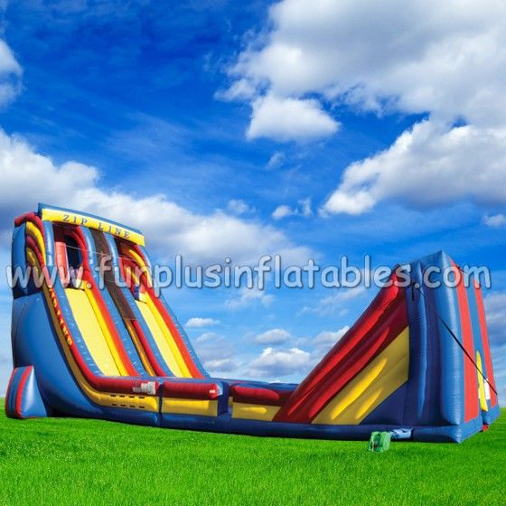 Playground zip line inflatable slide sport game on sale F6007